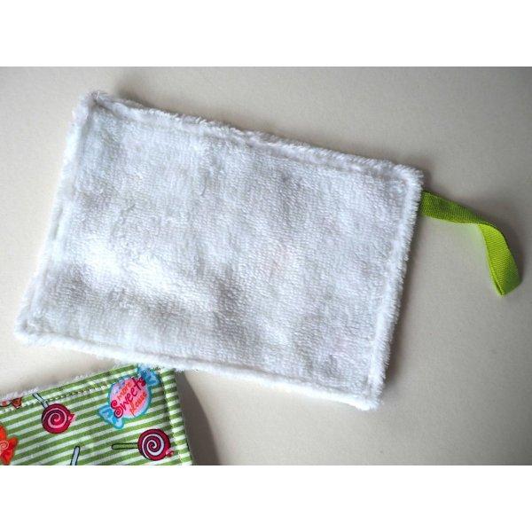 Débarbouillette nettoyante bébé/enfant, bonbon ton vert