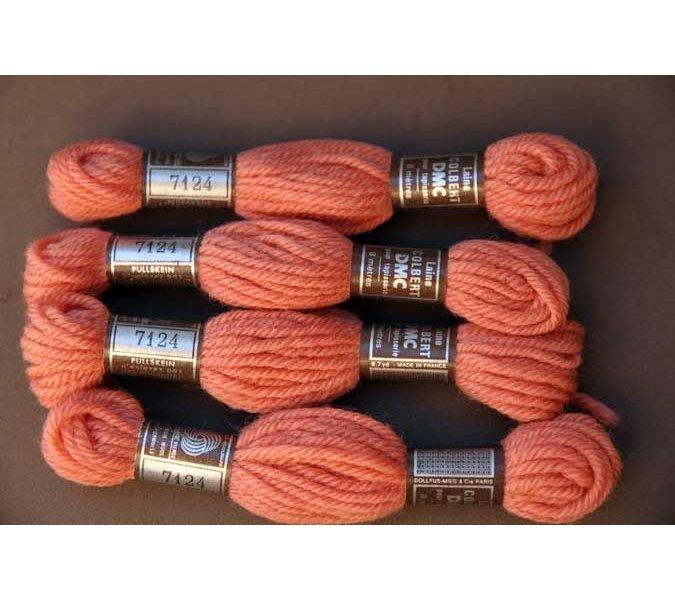 Echevette 8m   7124, ton  brique clair, 100% pure laine Colbert