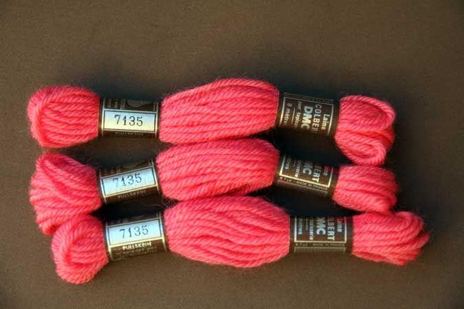 Echevette 8m  7135, ton rose, 100% pure laine Colber