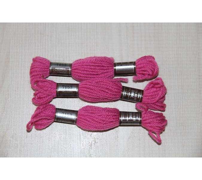 Echevette 8m  7153, ton rose vif, 100% pure laine Colbert