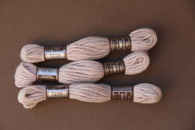 Echevette 8m  7270, ton beige rosé, 100% pure laine Colbert DMC