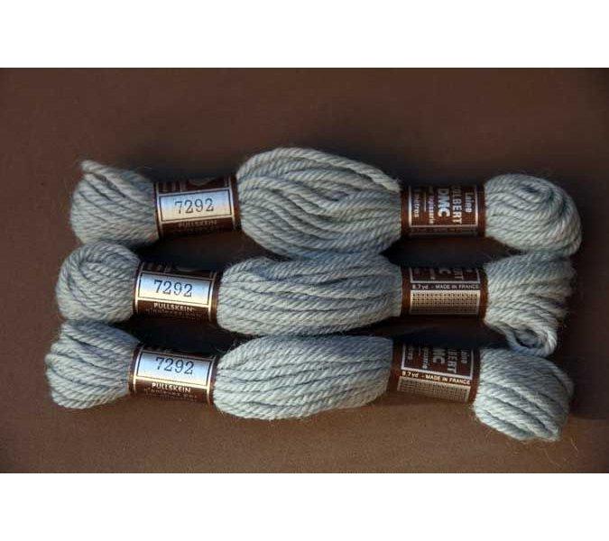 Echevette 8m  7292, ton gris bleu clair, 100% pure laine Colbert DMC