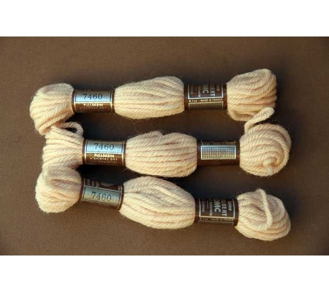 Echevette 8m   7460, ton beige ecru, 100% pure laine Colbert DMC