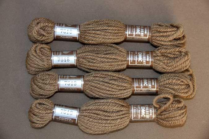 Echevette 8m  7518, ton marron moyen, 100% pure laine Colbert DMC