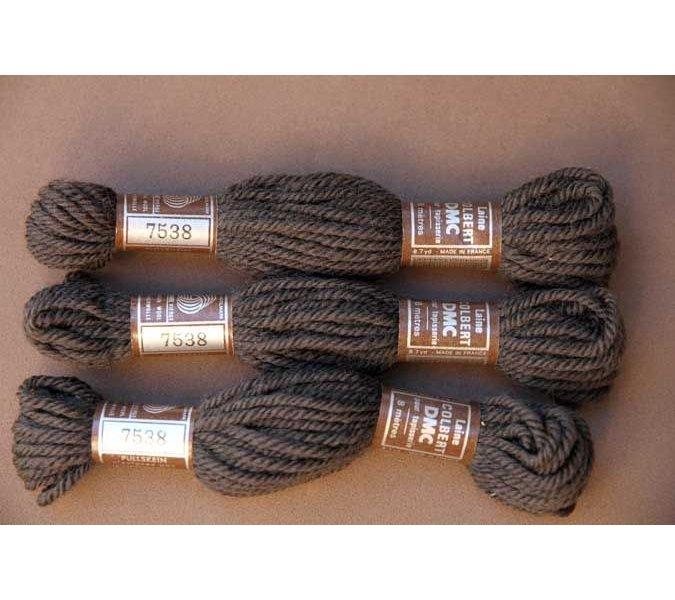Echevette 8m   7538, ton marron, 100% pure laine Colbert DMC