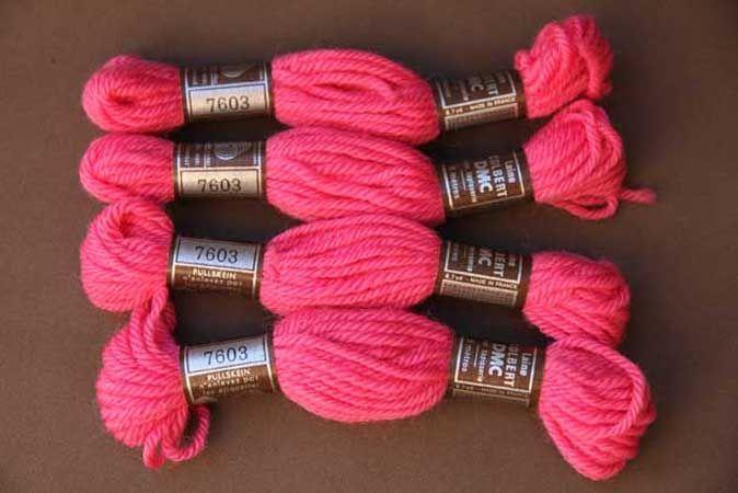 Echevette 8m    7603, ton rose vif, 100% pure laine Colbert DMC