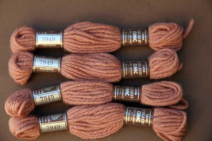 Echevette 8m  7949, ton brun, 100% pure laine Colbert DMC