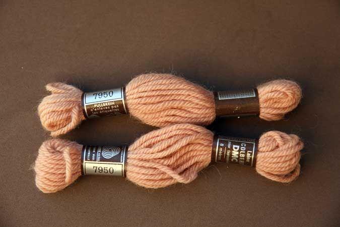 Echevette 8m  7950, ton rose , 100% pure laine Colbert DMC