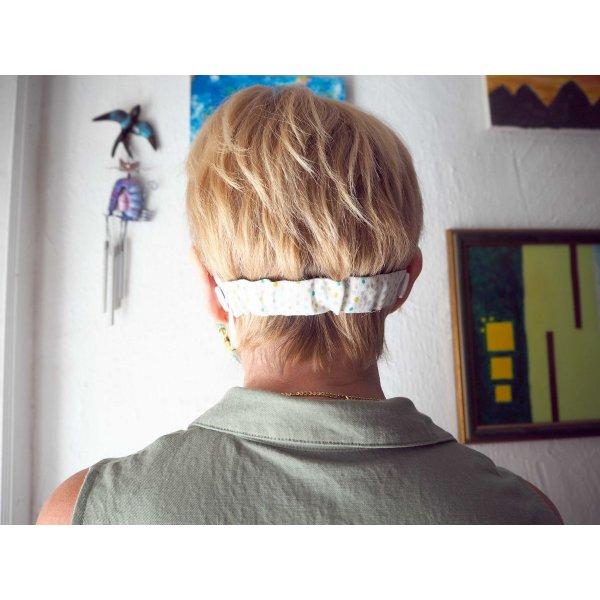 Economiseur d'oreilles, 15cm non étiré, bleu avec gouttes