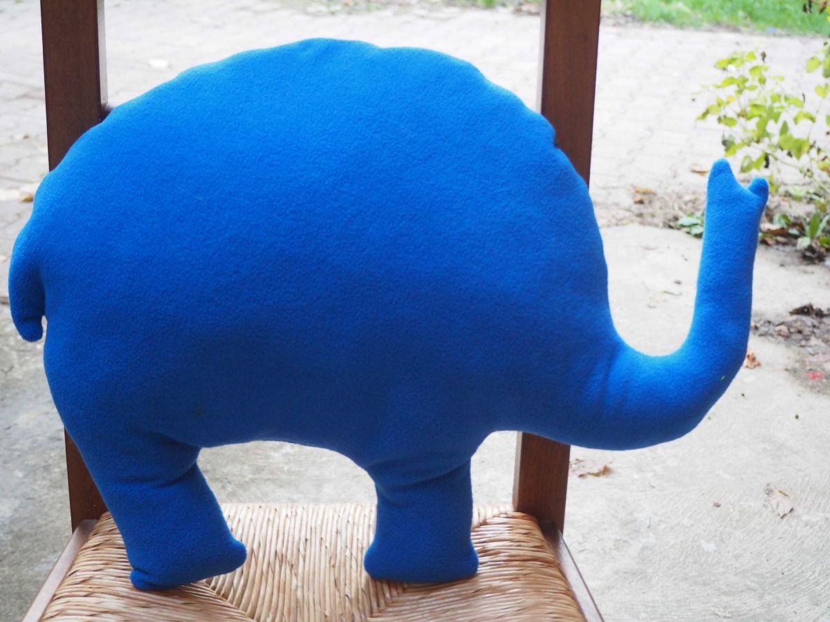 Eléphant,  tissu bleu foncé nébuleuses, 50x38x10cm, tout doux