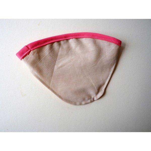 FILTRE à café, N°4, coton BIO, lavable, biais coloré rose foncé