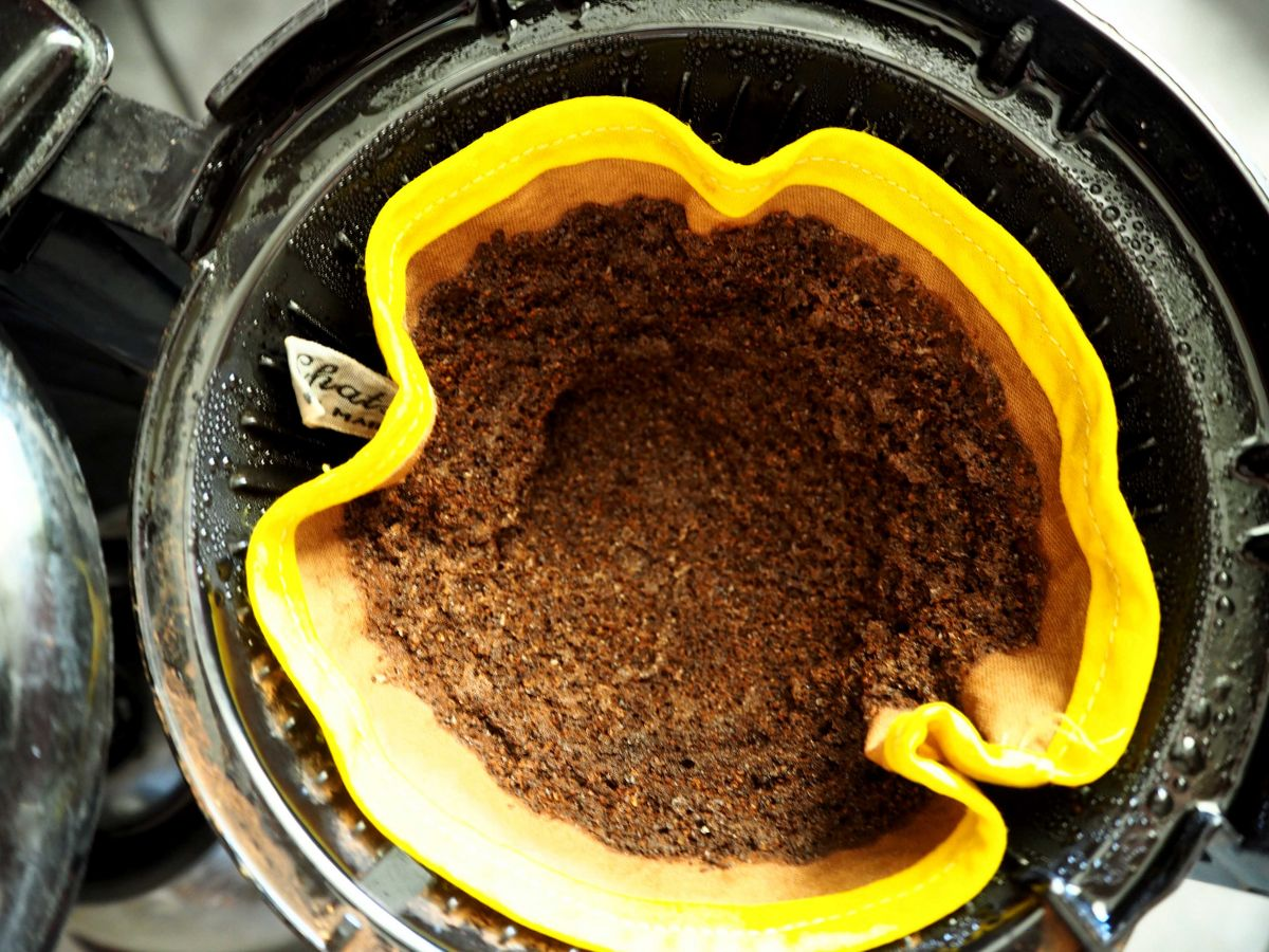 FILTRE à café, N°4, coton BIO, lavable, biais coloré fleuri
