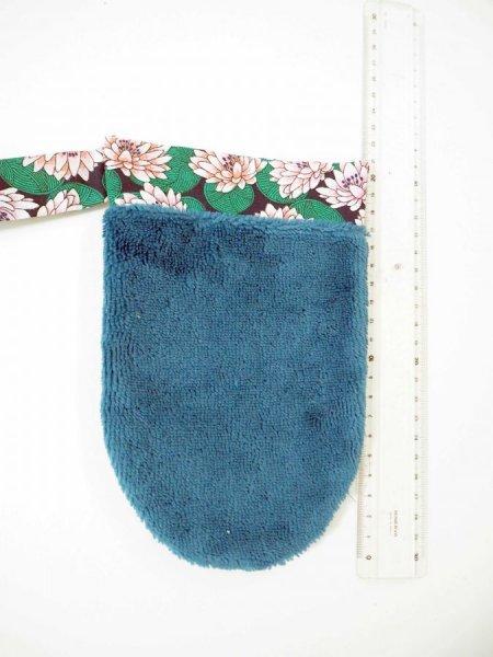 Gant démaquillant/toilette, éponge Bambou/polyester, coton, ton vert émeraude