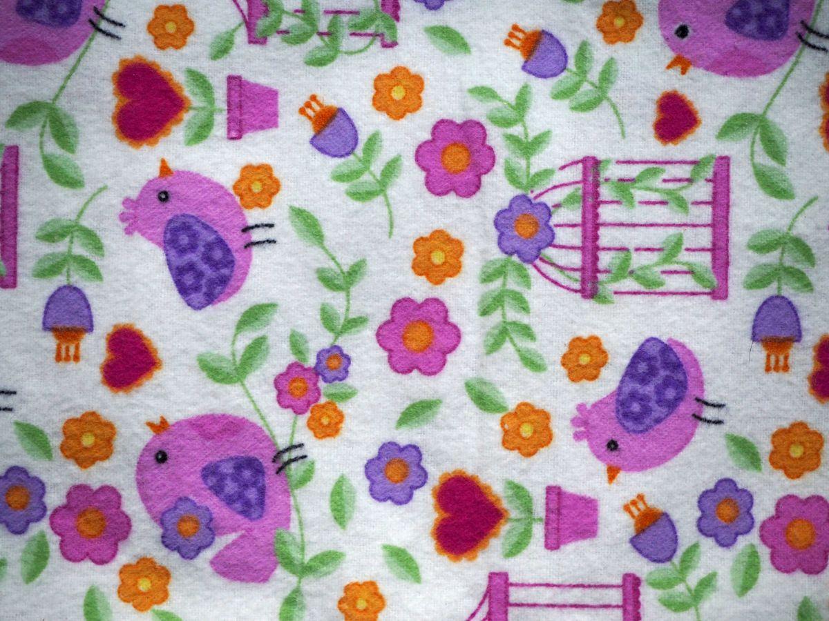 Grande bouillotte sèche en Flanelle, rose avec fleurs, 22x30cm