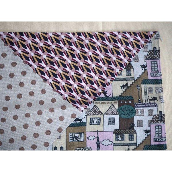 HOUSSE de coussin 37x38cm, Chat, tons rosés