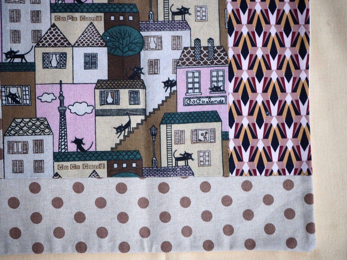 HOUSSE de coussin 38x40cm, Chat, tons rosés