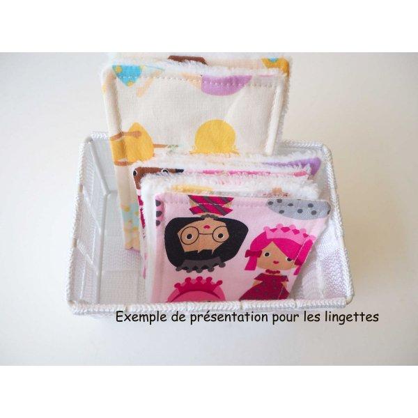 Lot de 7 lingettes nettoyantes bébé/enfant, poupées ton rose