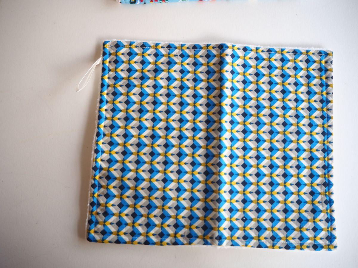 lot de 5 serviettes essuie-tout, coton-éponge, lavable,