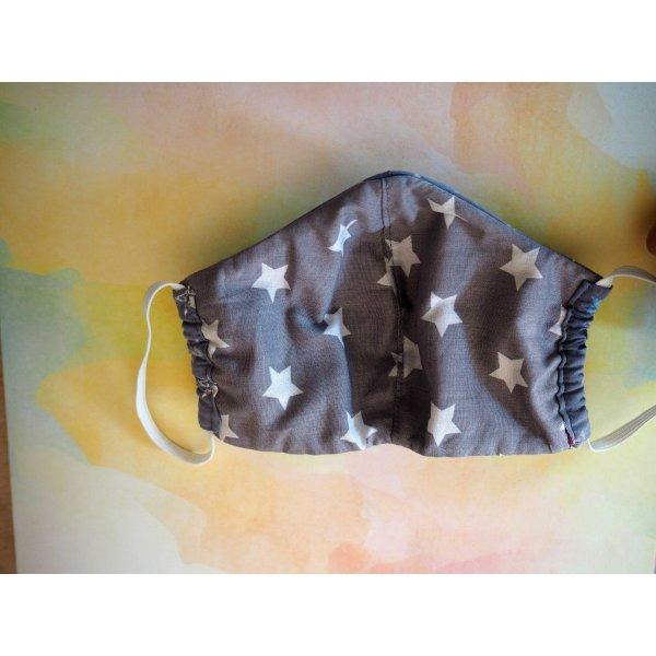 Masque de soin fantaisie, 3 épaisseurs, coton fantaisie avec étoiles, bleu et gris