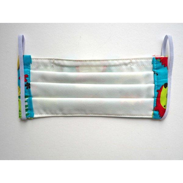 Masque en tissu , plissé, 2 épaisseurs, pince nez, hérissons