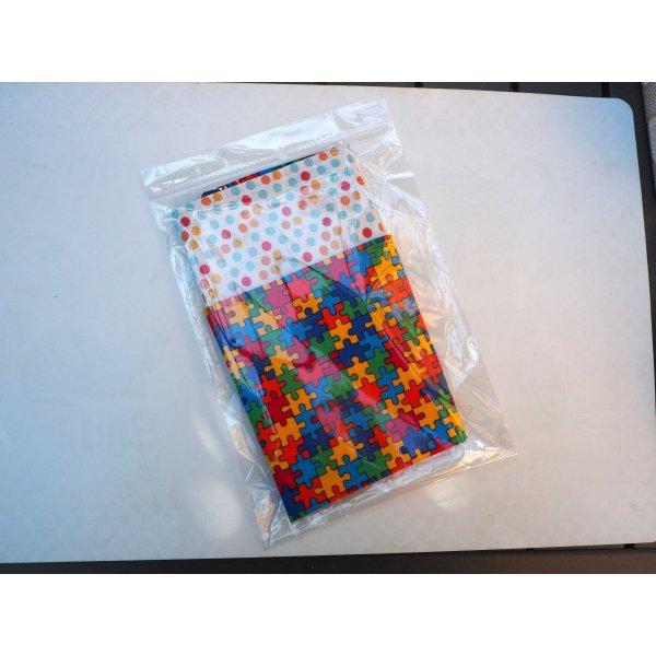 Serviette de table 33x33cm, coton puzzle coloré