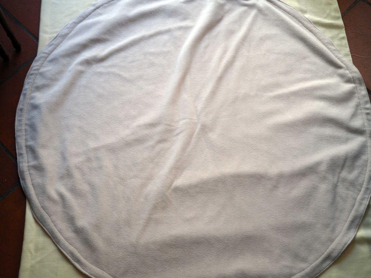 TAPIS DE JEU,mongolfières, rond, diam 112cm, pliable, coton et polaire, lavable