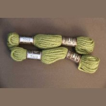 Echevette 8m ,7362, ton vert clair,  100% pure laine Colbert