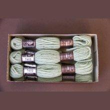 Echevette 8m  7402, ton vert pâle, 100% pure laine Colbert