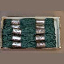 Echevette 8m  7408, ton vert, 100% pure laine Colbert