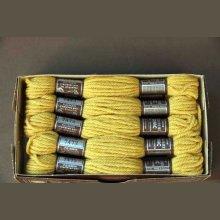 Echevette 8m  7473, ton jaune moutarde clair, 100% pure laine Colbert DMC