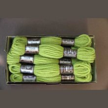 Echevette 8m   7548, ton vert clair, 100% pure laine Colbert
