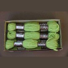 Echevette 8m  7771, ton vert clair, 100% pure laine Colbert