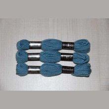 Echevette 8m  7802, ton bleu pétrole, 100% pure laine Colbert DMC
