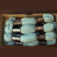 Echevette 8m  7828, ton bleu turquoise clair, 100% pure laine Colbert DMC