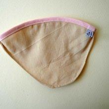 FILTRE à café, N°4, coton BIO, lavable, biais coloré rose clair