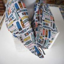 Longue Bouillotte séche pour cervicales, déhoussable, coton motifs marque-pages
