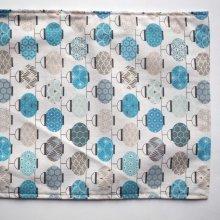 Bouillotte coton déhoussable 22x28cm  lanternes bleues