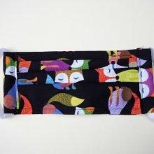 Masque de protection , plissé, avec pince-nez et ouverture en bas, renards