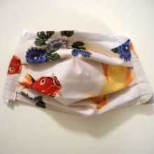 Masque de protection , plissé, avec pince-nez, 3 épaisseurs, carpe Koï