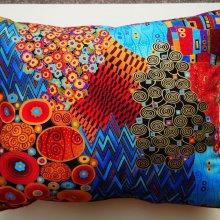 Gros coussins, tissu motif Klimt, 50x40cm