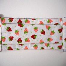 Masque 3 épaisseurs,pliage afnor, petites fraises