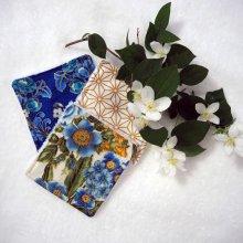 6 lingettes démaquillantes lavables, tissu japonais