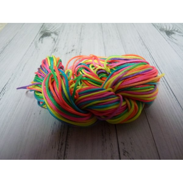 24 m de cordon macramé multicolore : 1 mm
