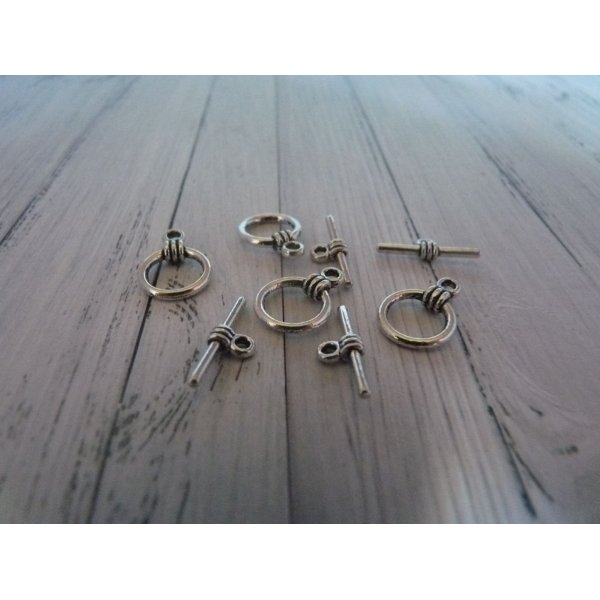 4 Fermoirs Toggles noeud