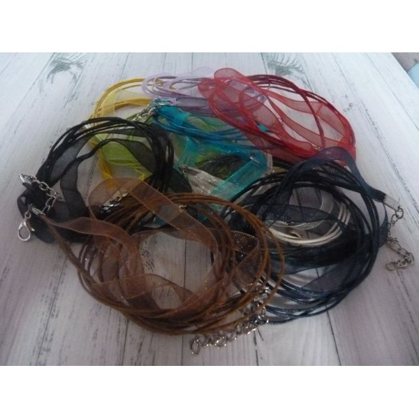 LOT DE 10 COLLIERS ORGANZA