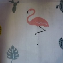 "Coupon de tissu ""flamants roses"""