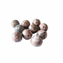 Lot de 10 perles rondes jasper : 12 mm