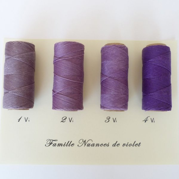"""Bijoux en micro-macramé à personnaliser  en """"Nuances de violet"""""""