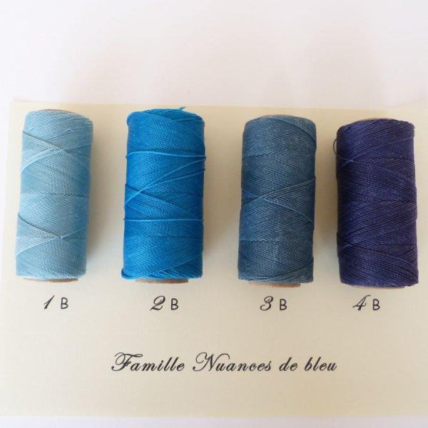 """Bijoux en micro-macramé à personnaliser  en """"Nuances de bleu"""""""