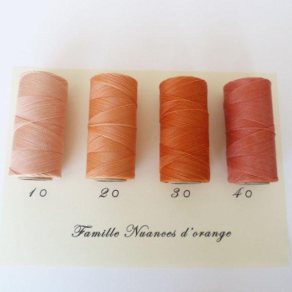 """Bijoux en micro-macramé à personnaliser  en """"Nuances d'orange"""""""